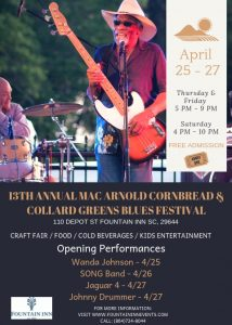 13th Annual Mac Arnold Cornbread and Collard Greens Blues Festival @ Commerce Park  | Fountain Inn | South Carolina | United States