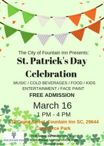 St Patrick's Day Celebration @ Commerce Park | Fountain Inn | South Carolina | United States