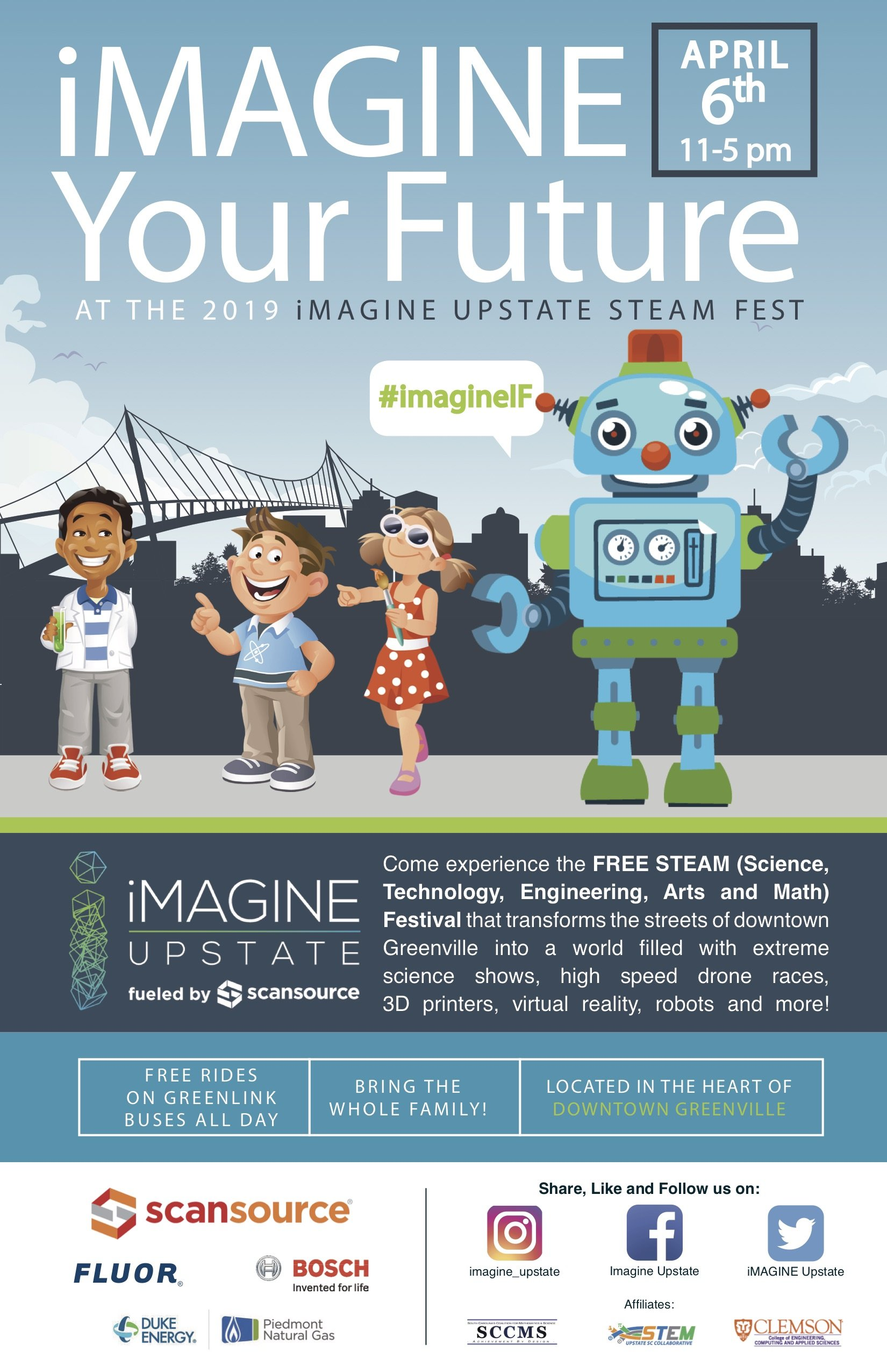 5th Annual iMAGINE Upstate STEAM Fest - Ten at the Top