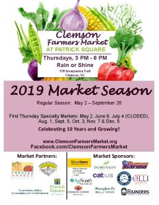 Clemson Farmers Market @ Patrick Square | Clemson | South Carolina | United States