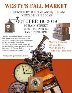 Westy's Vintage Fall Market @ Westy's Antiques and Vintage Heirlooms | Pelzer | South Carolina | United States